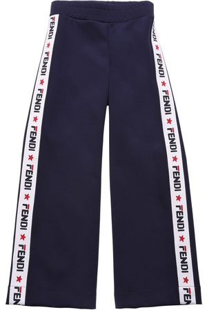 Fendi Girls Trousers - Mania Triacetate Jacquard Pants