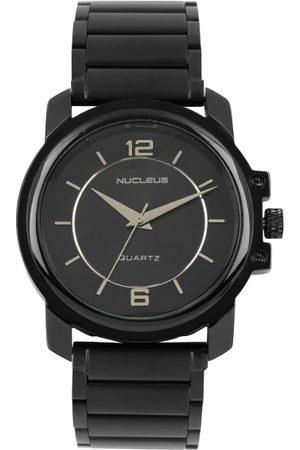 Nucleus Men Black Textured Dial Watch NLGBB
