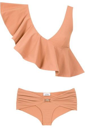AMIR SLAMA Ruffled top bikini set