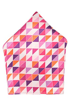 Blacksmith Men Multicoloured Geometric Pocket Square