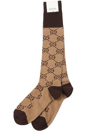 Gucci Men Socks - Gg Supreme Logo Cotton Blend Socks
