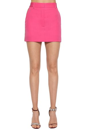 Calvin Klein Women Mini Skirts - Side Band Wool Gabardine Mini Skirt
