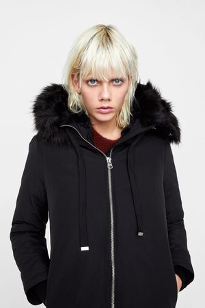 Zara WATER-REPELLENT QUILTED PARKA