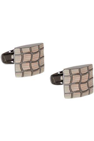 Alvaro Castagnino Gunmetal-Toned Square Textured Cufflinks