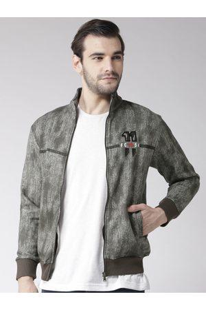 Fort Collins Men Charcoal Grey Printed Sweatshirt