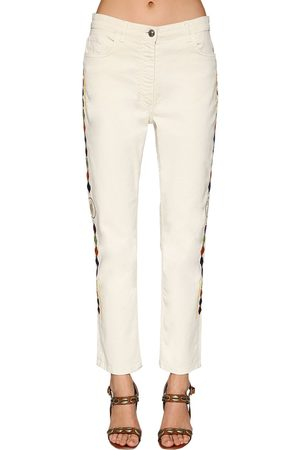 Etro Women Jeans - Embroidered Cotton Denim Jeans