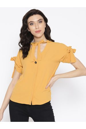 OVS Women Yellow Solid Shirt Style Top