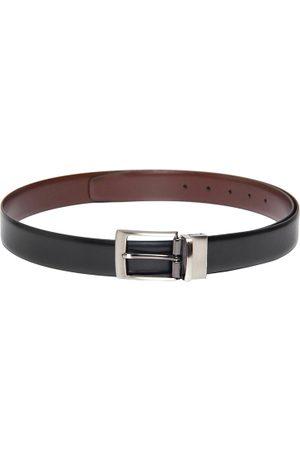 Pacific Gold Men Black & Brown Reversible Leather Belt