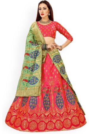 06bdbfa7e11 Chhabra 555   Green Embellished Semi-Stitched Lehenga   Unstitched Blouse  with Dupatta