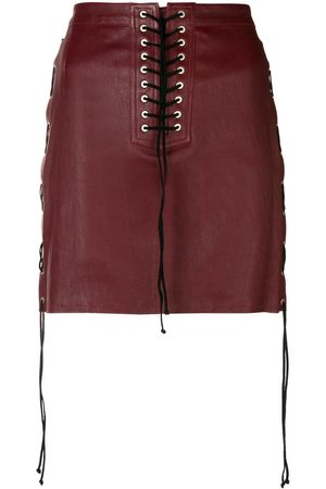 Unravel Project Lace-up detail skirt