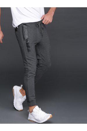 WROGN Men Charcoal Grey Solid Joggers
