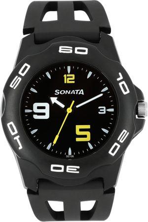 Sonata Men Black Dial Watch NF7929PP08J