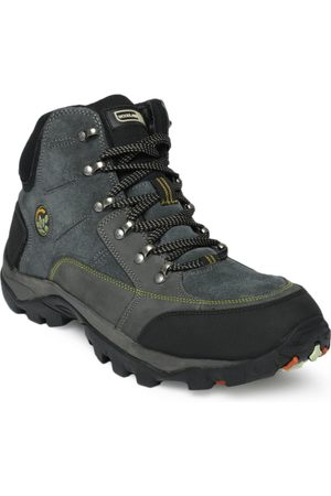 Woodland Men Blue Hiking Boots