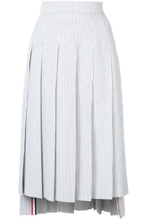 Thom Browne Seersucker Pleated Skirt