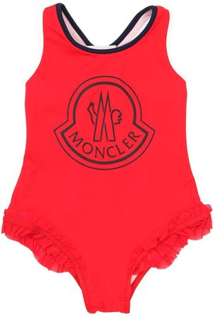 Moncler Logo Print Lycra One Piece Swimsuit