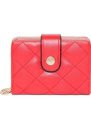 Lino Perros Women Red Quilted Two Fold Wallet