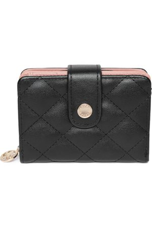 Lino Perros Women Black Quilted Two Fold Wallet