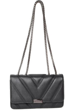 Lino Perros Black Solid Quilted Shoulder Bag