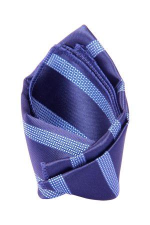 Tossido Men Blue Striped Pocket Square
