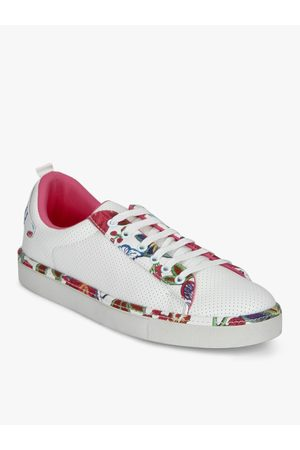 Elle White Casual Sneakers
