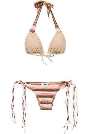 AMIR SLAMA Striped bikini set