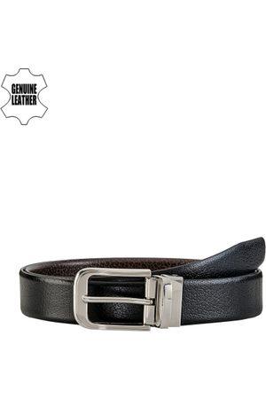 Teakwood Leathers Men & Brown Reversible Genuine Leather Belt