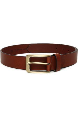 Mast & Harbour Men Brown Solid Belt