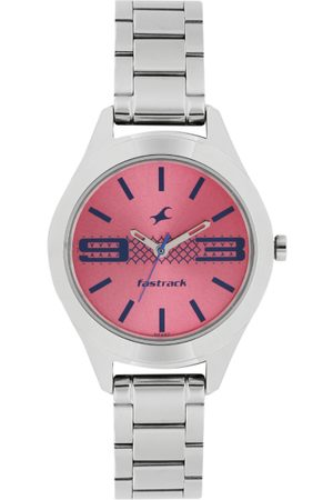 Fastrack Women Pink Dial Watch 6153SM02