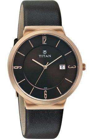Titan Workwear Gents-Owago Men Brown Analogue watch NL90053WL01