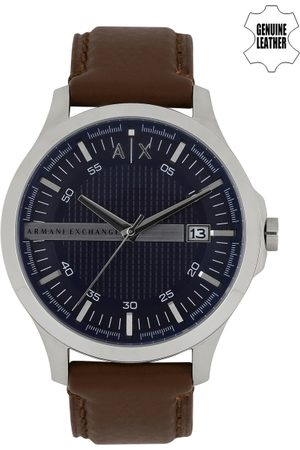 Armani Men Navy Textured Dial Watch AX2133