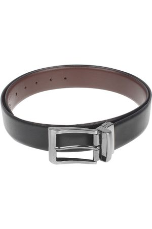 amicraft Men & Brown Leather Reversible Textured Belt ACDMSH