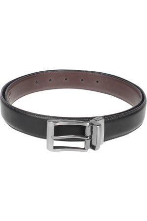 amicraft Men & Brown Reversible Textured Belt