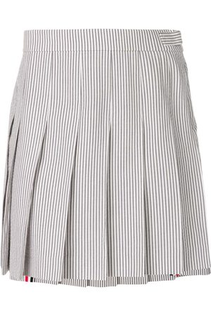 Thom Browne Seersucker Mini Pleated Skirt