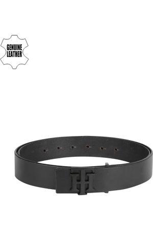 Tommy Hilfiger Men Black Genuine Leather Solid Belt