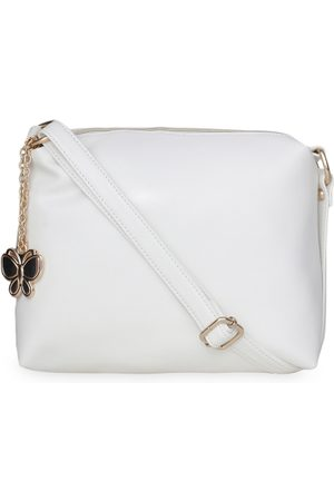 adidas Women White Solid Sling Bag
