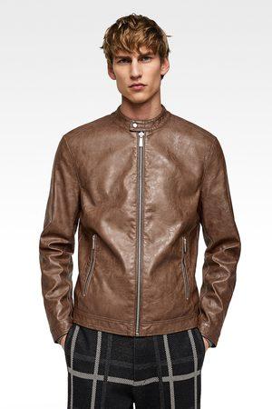 083b1e68 Faux leather jacket