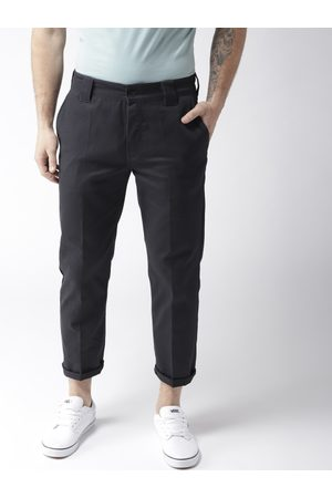 Forever 21 Men Slim Fit Solid Trousers