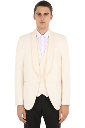 LARDINI Men Blazers - Cotton Blend Smoking Jacket