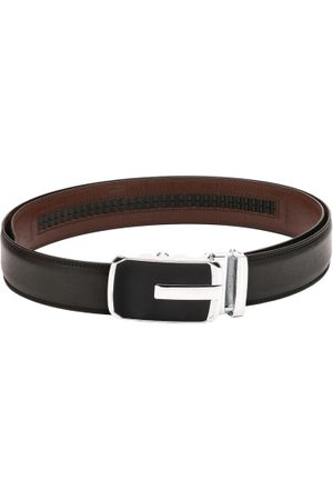 Pacific Men Black Spanish Leather Belt