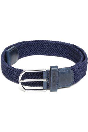 Lino Perros Men Navy Basketweave Belt