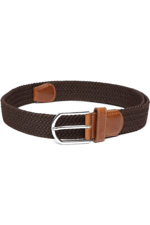 Lino Perros Men Brown Braided Belt