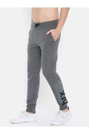 HRX Men Grey Solid Joggers