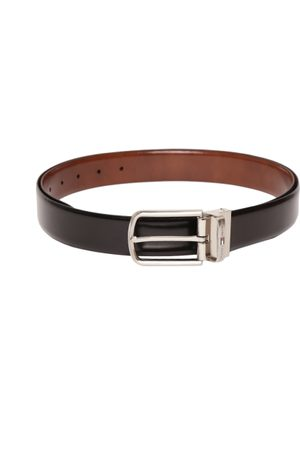 Tommy Hilfiger Men Black & Brown Leather Reversible Belt