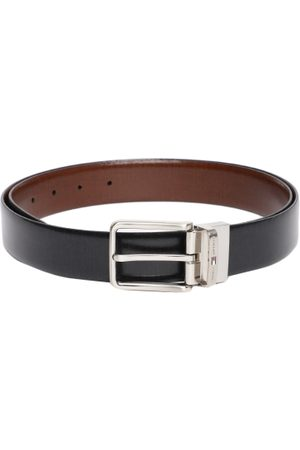 Tommy Hilfiger Men Black & Brown Solid Reversible Leather Belt
