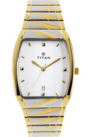 Titan Men White Dial Watch NE9315BM01A