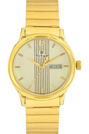Titan Men Off-White Dial Watch NF1580YM05