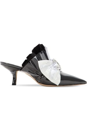 Midnight 00 65mm Embellished Plexi & Cotton Mules