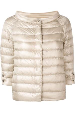 HERNO Women Short Sleeve - Short cropped sleeve jacket