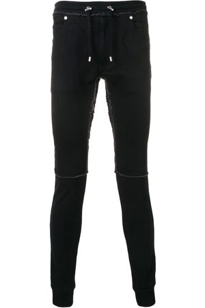 Balmain Slim denim lounge trousers