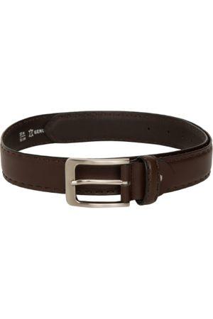 Mast & Harbour Men Belts - Men Brown Solid Leather Belt